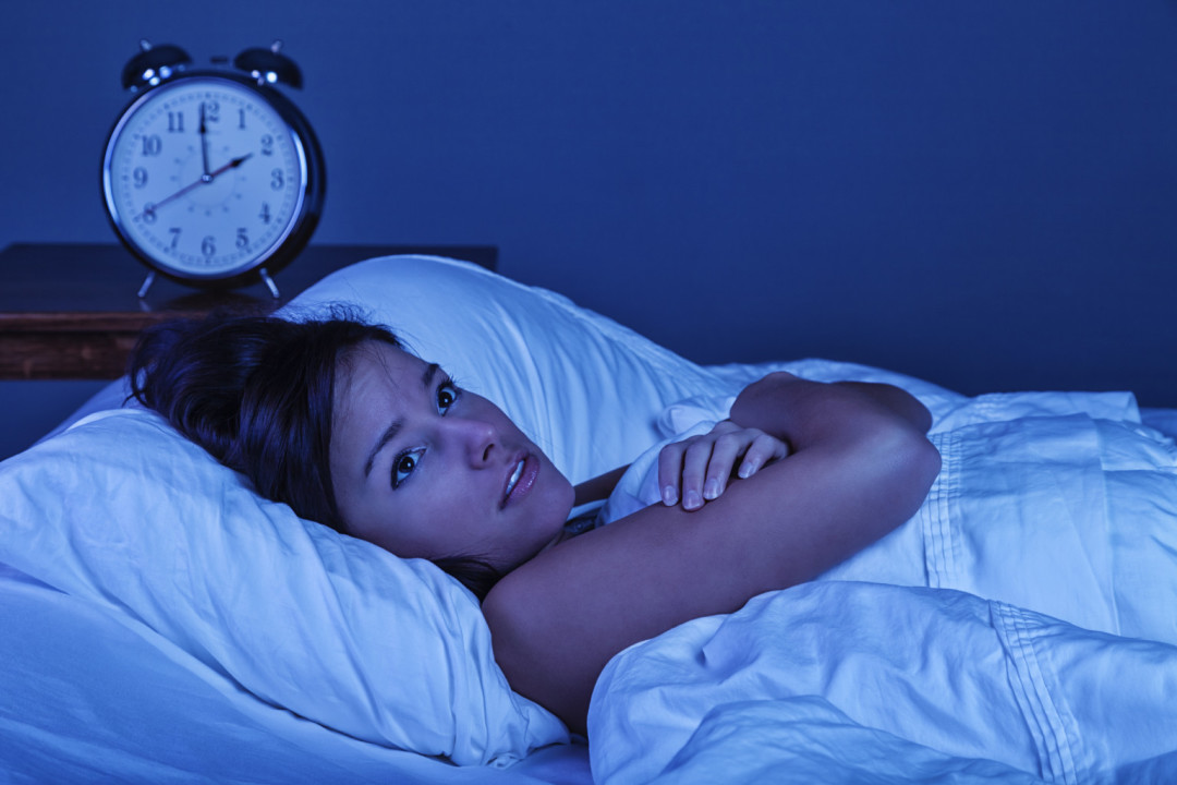 Young Woman with Insomnia