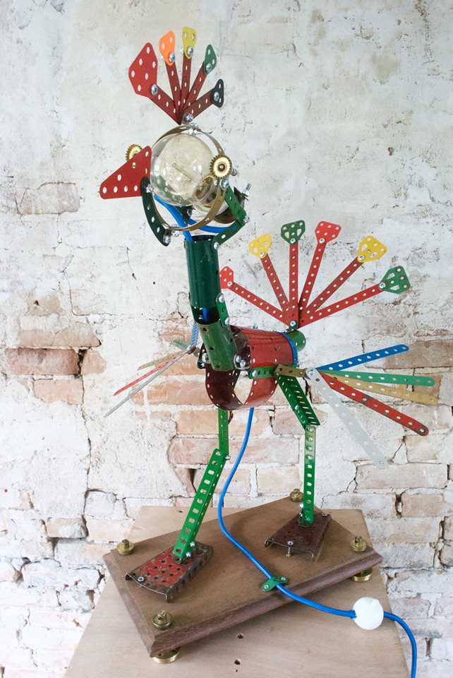 Oom Jan Meccano lamp