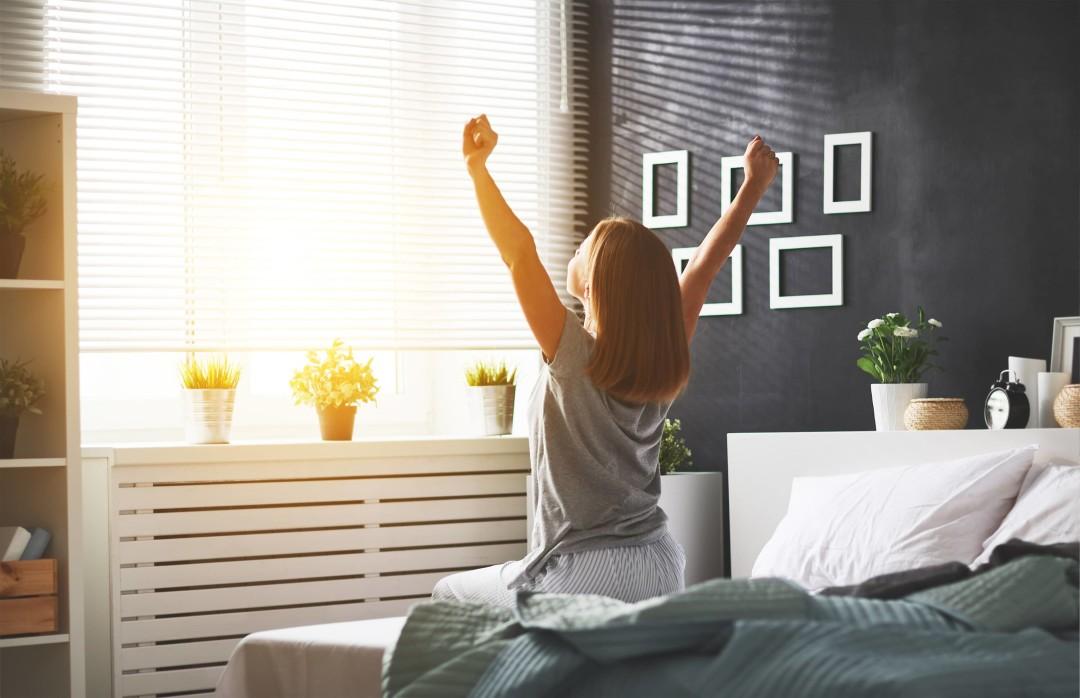 Energiek door ochtendlicht